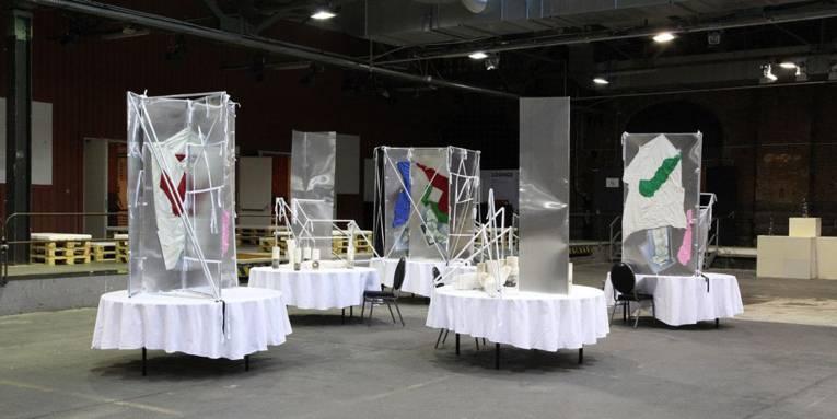 Yorgos Sapountzis, The Protagonists, 2013; Installationsansicht, abc Berlin 2014