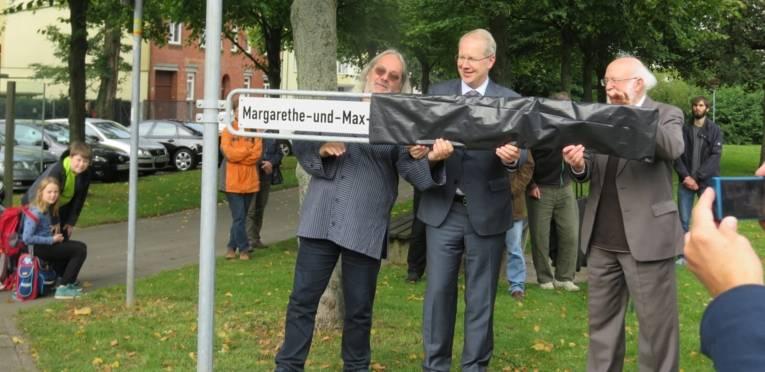 Margarethe-und-Max-Rüdenberg-Platz eingeweiht