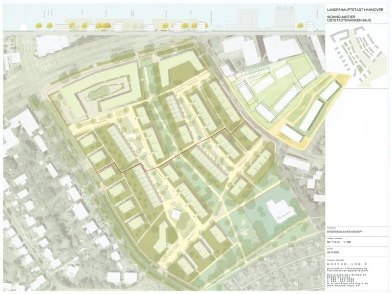 """Lageplan des """"Wohnquartiers Oststadtkrankenhaus"""""""