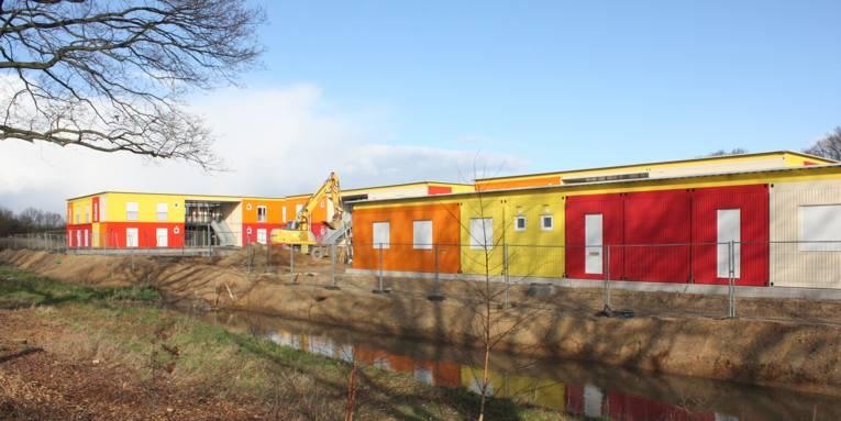 Der Außenbereich wird derzeit (Stand: 26. Februar) noch fertiggestellt
