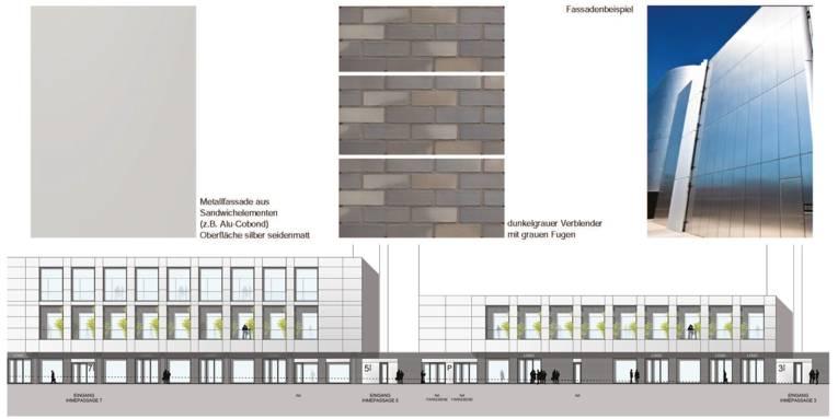 Beispiele für die Fassadengestaltung des Ihme-Zentrums