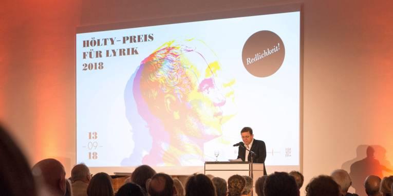 Im Anschluss an die Preisverleihung las Norbert Hummelt aus seinem Werk