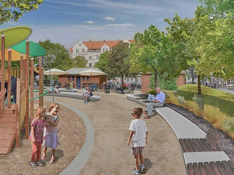 Visualisierung der Neugestaltung des Moltkeplatzes
