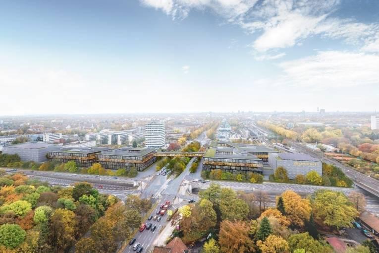 Neubau der Unternehmenszentrale der Continental AG: Computermodell