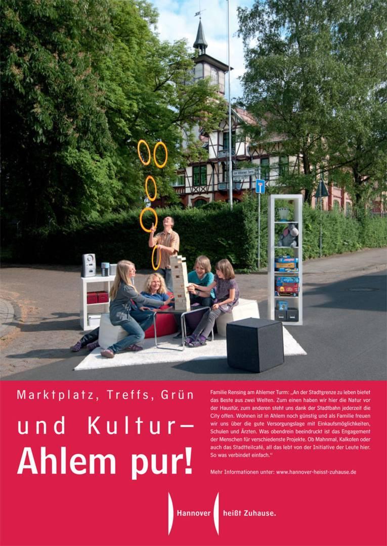 Marktplatz, Treffs, Grün und Kultur - Ahlem pur!
