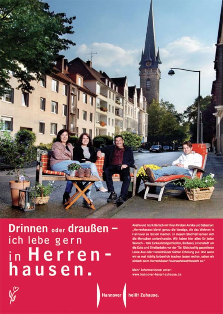 Drinnen oder draußen, ich lebe gern in Herrenhausen