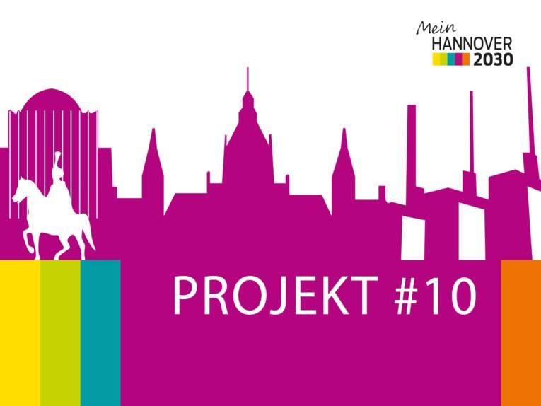 Logo, das die Silhouette einer Stadt zeigt.