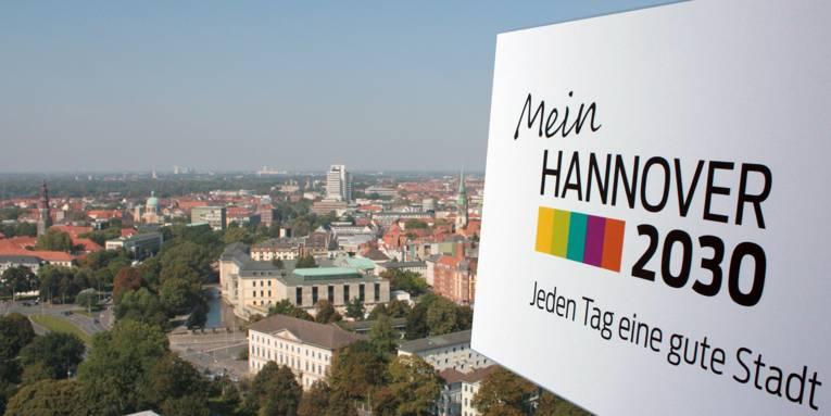 Blick über die Stadt Hannover.