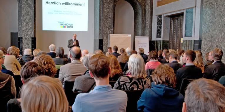 OB Schostok eröffnet den Workshop zur Evaluation der Beteiligungsphase