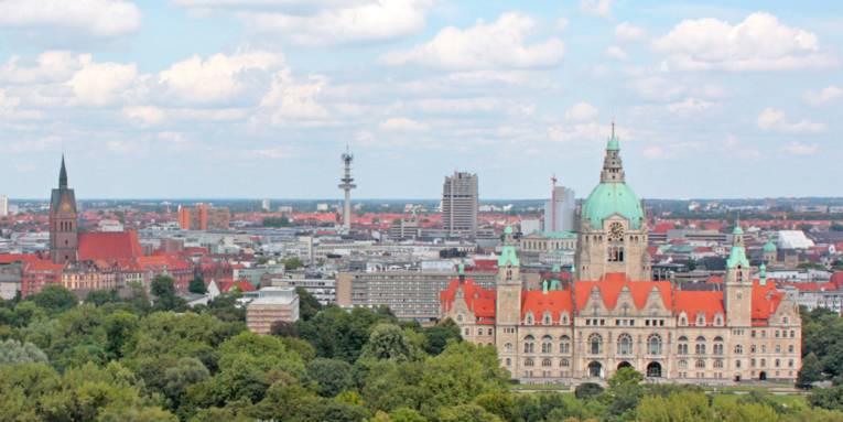 Luftbildpanorama Neues Rathaus