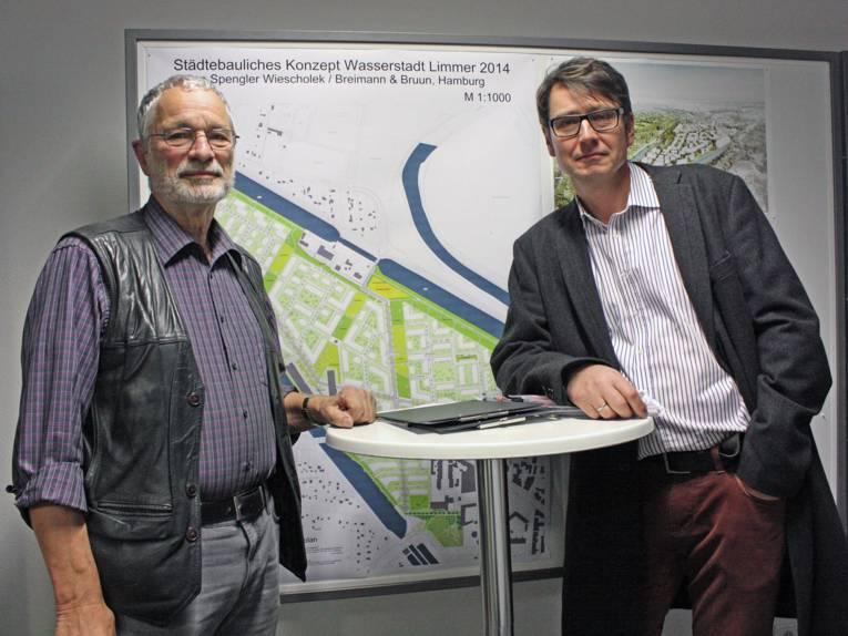 Die Planungsberater der BI Wasserstadt: Herr Sid Auffarth und Mark Hömke