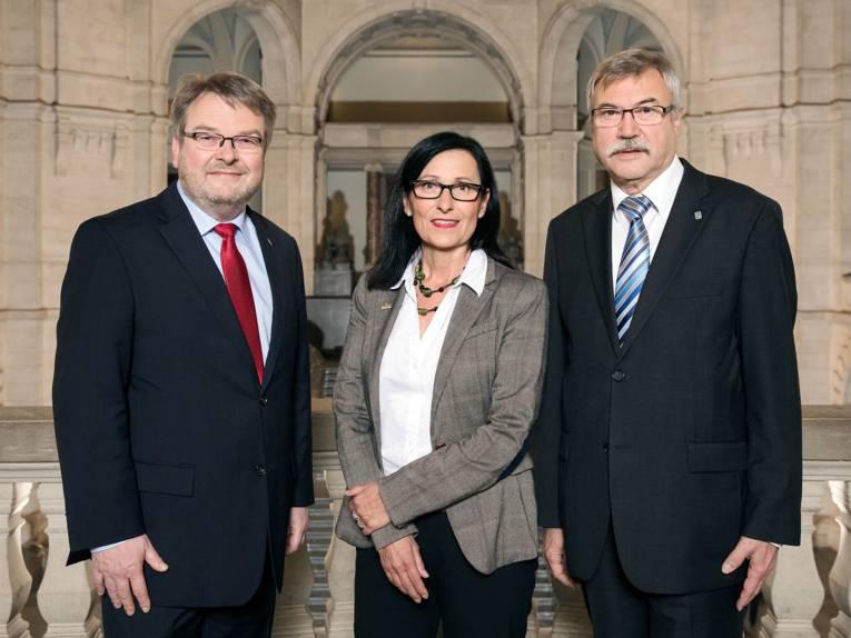 Thomas Hermann, Regine Kramarek und Klaus Dieter Scholz