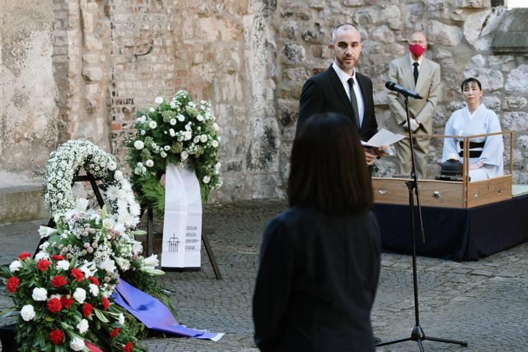 OB Onay bei einer Rede in der Aegidienkirche