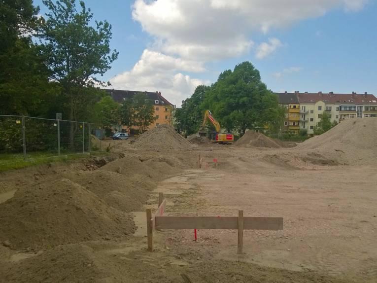 Baugrube an der Birkenstraße