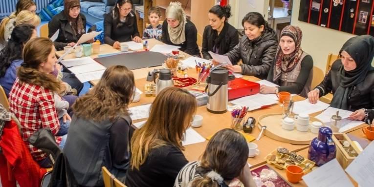 Elterngruppe des Rucksackprogramms in einer Kita