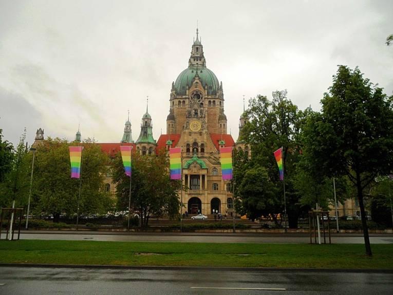 Blick auf das Neue Rathaus