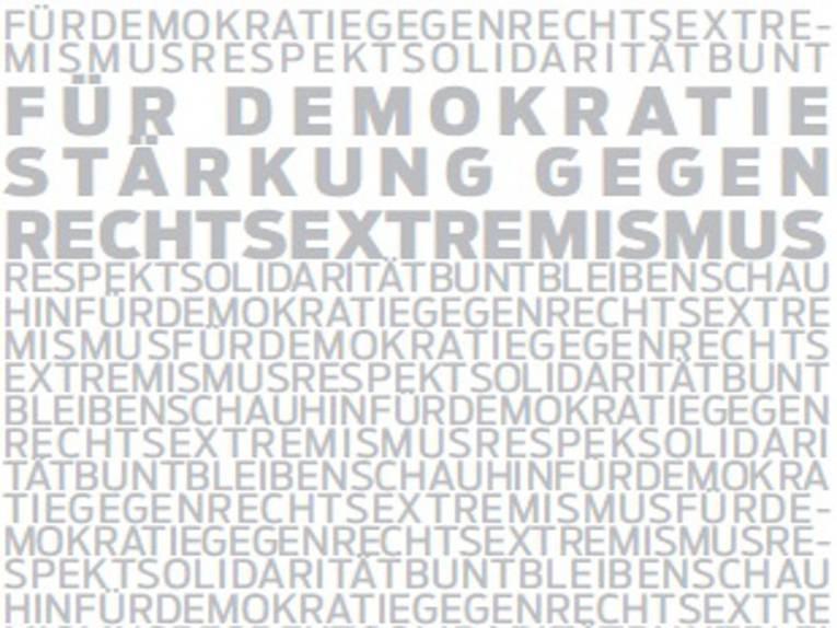 Auf dem Bild sieht man das Logo der SDR. Es sind graue Textbausteine, die sich aus dem Namen der Stelle zusammensetzen.