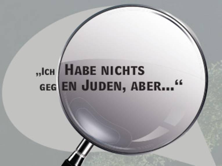 """Schriftzug: """"Ich  habe ja nichts gegen Juden, aber..."""""""