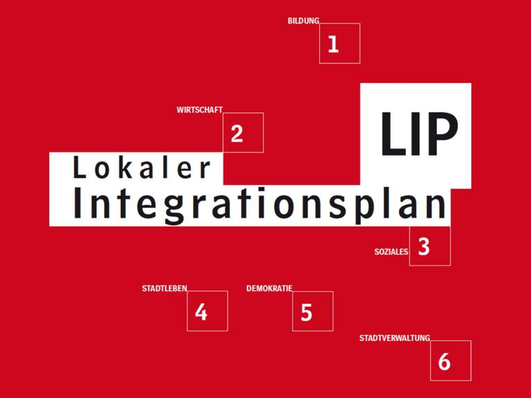 Das Titelblatt des Lokalen Integrationsplans