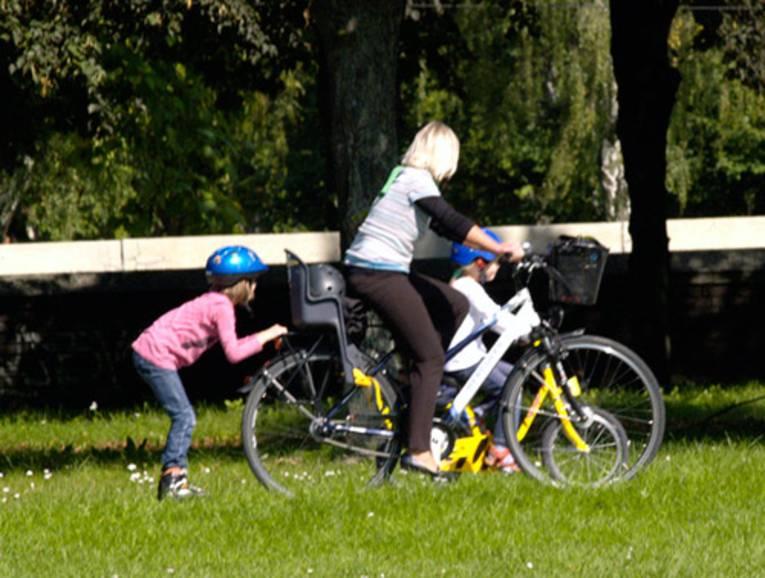 Fahrradausflug mit Kindern