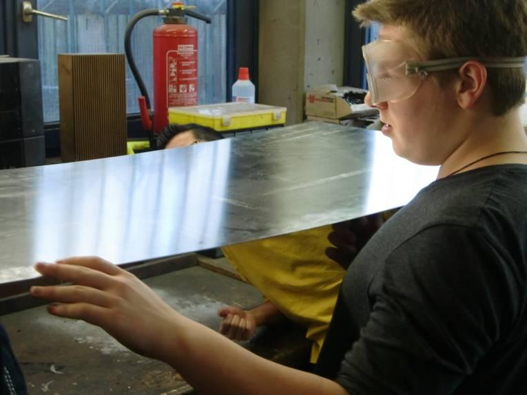 Die ZerlegBar wurde  von Jugendlichen im Jugendzentrum Mittelfeld gebaut