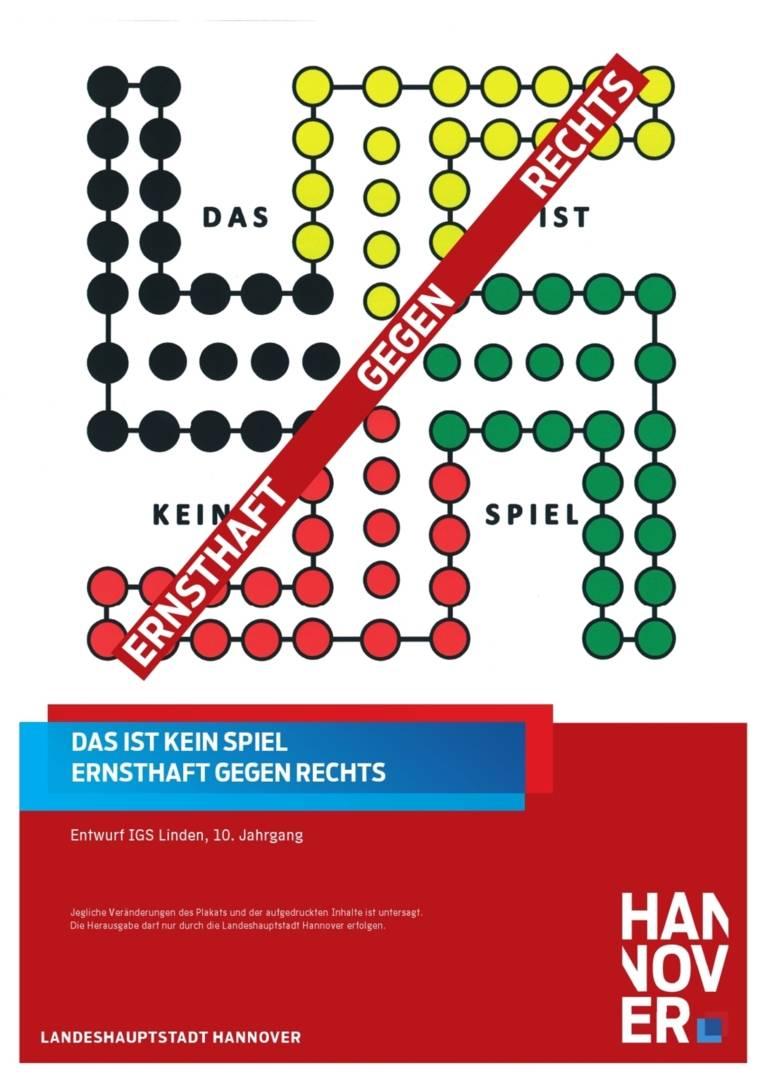 """Schulferienkalender 2013 - entworfen von Schülerinnen und Schüler des 10. Jahrgangs der IGS Linden zum Thema """"Rechtsextremismus"""""""