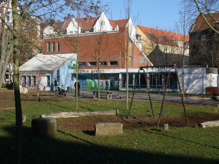 Der Spielpark Döhren, Außenaufnahme des Spielhauses.