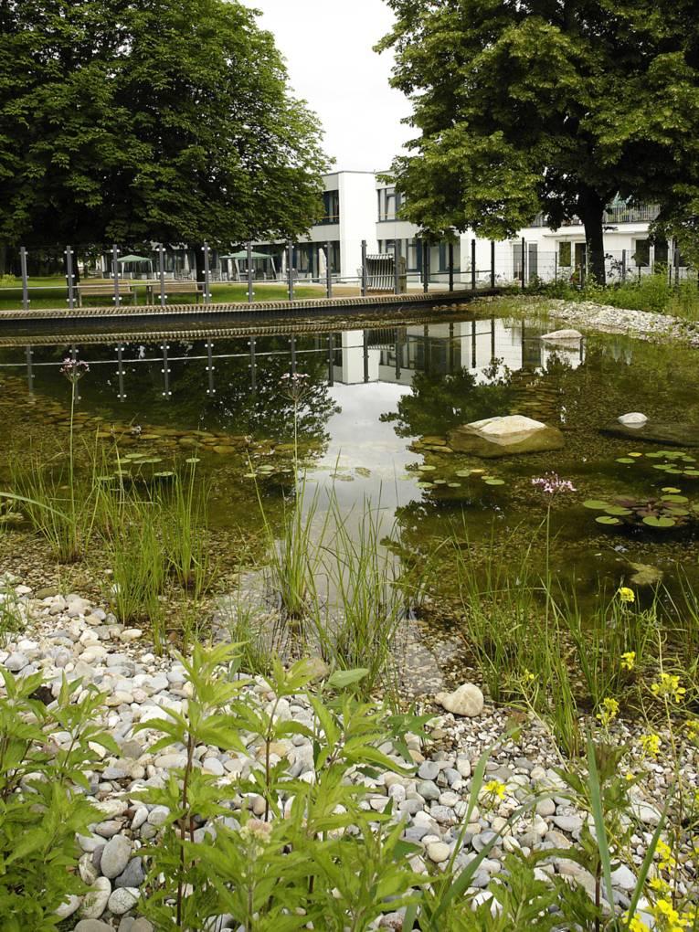 Der Teich am Pflegezentrum Heinemanhof