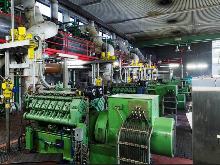 Innenansicht des Blockheizkraftwerkes im KW Herrenhausen