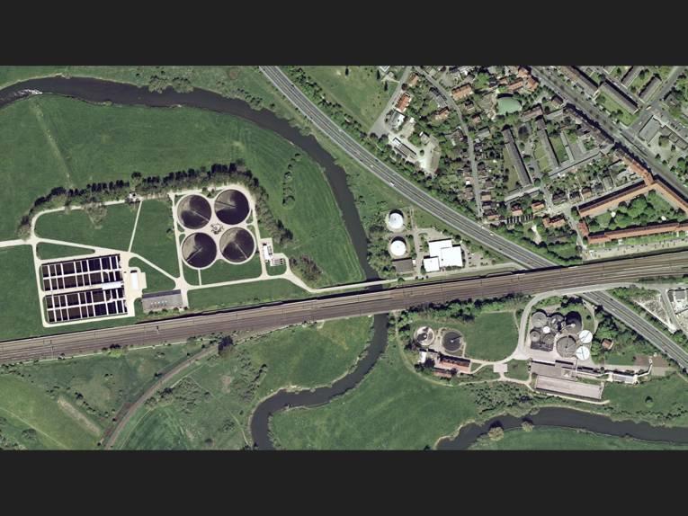 Luftbild vom KW Herrenhausen