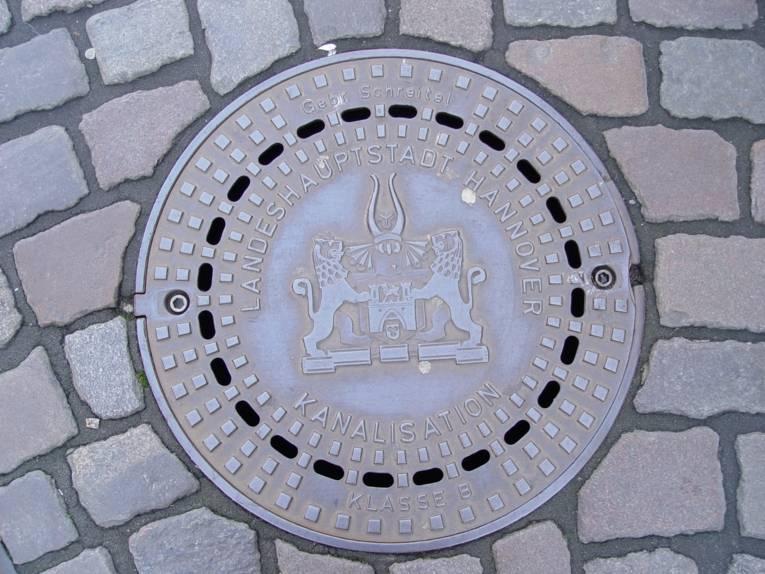 Kanaldeckel der Stadentwässerung Hannover