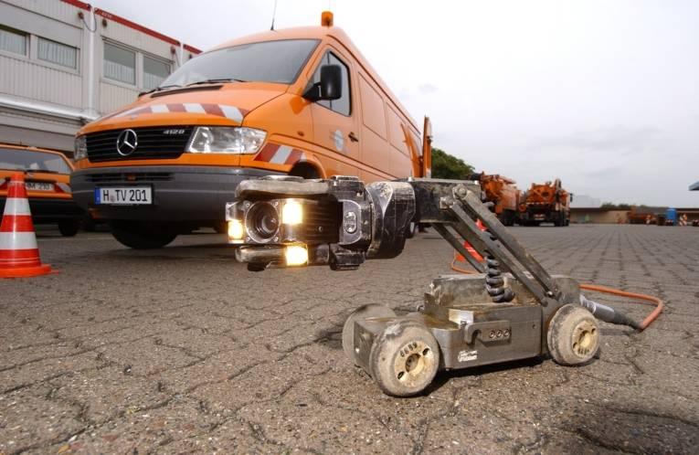 Kanalfernsehwagen mit selbstfahrender Kanalkamera