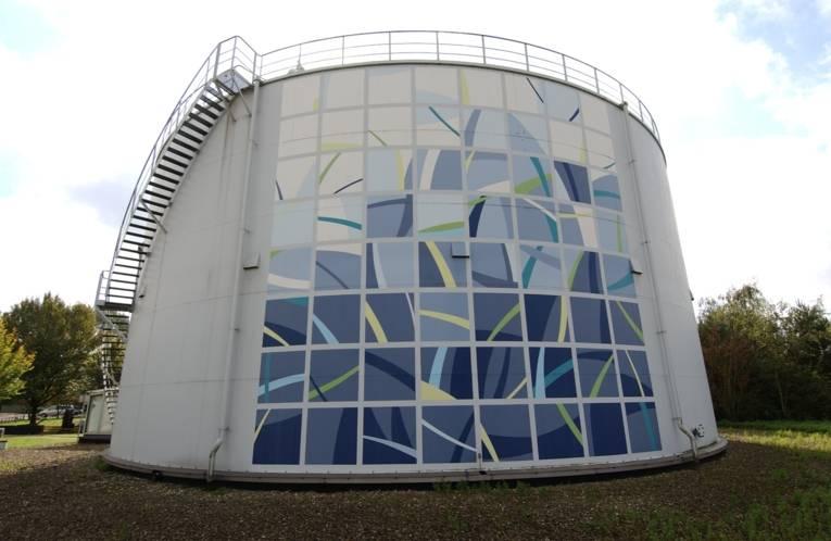 Klärgasbehälter im Klärwerk Herrenhausen