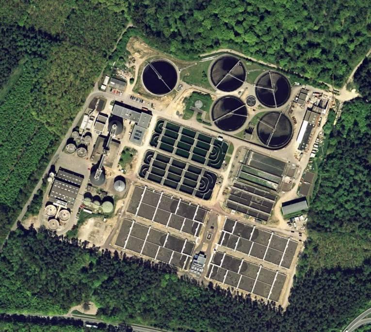 Luftbild vom Klärwerk Gümmerwald