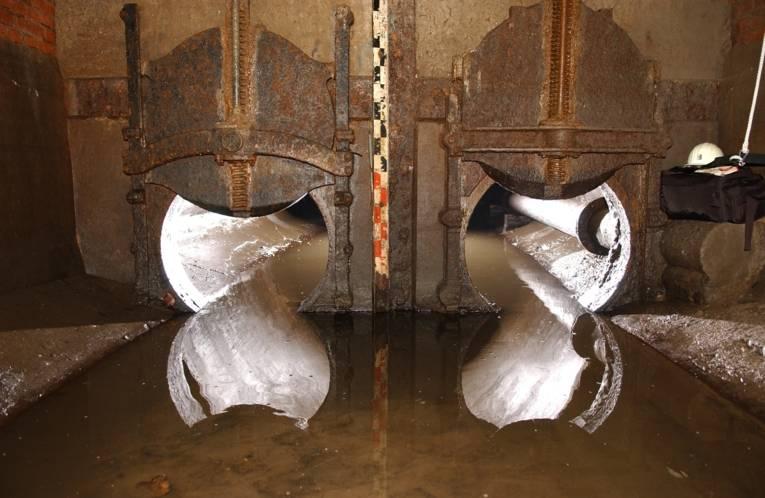 Regenwasserkanal unter dem Maschsee
