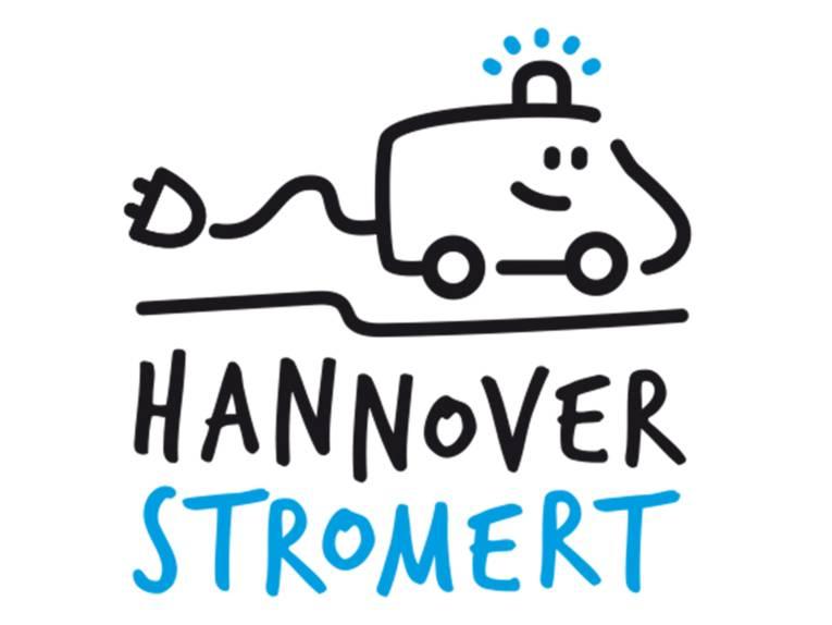 Logo mit Rettungsfahrzeug der Wort-Bild-Marke Hannover-stromert