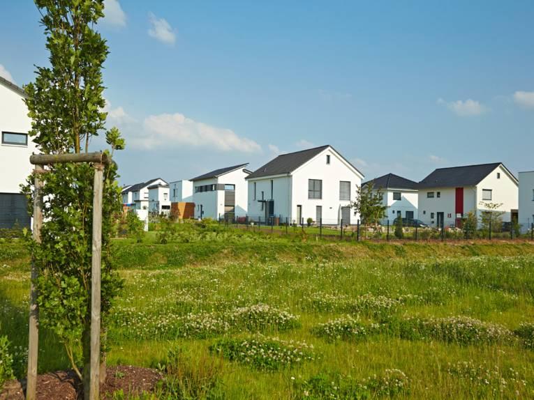 Häuseransicht des zero:e parks in Wettbergen