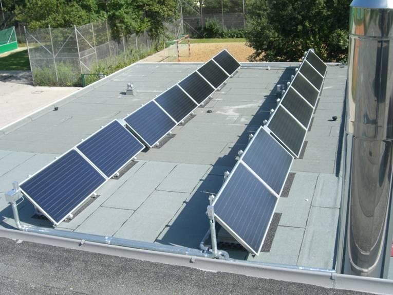 Solaranlage auf dem Vereinsgebäude des Hannoverschen Sport Clubs