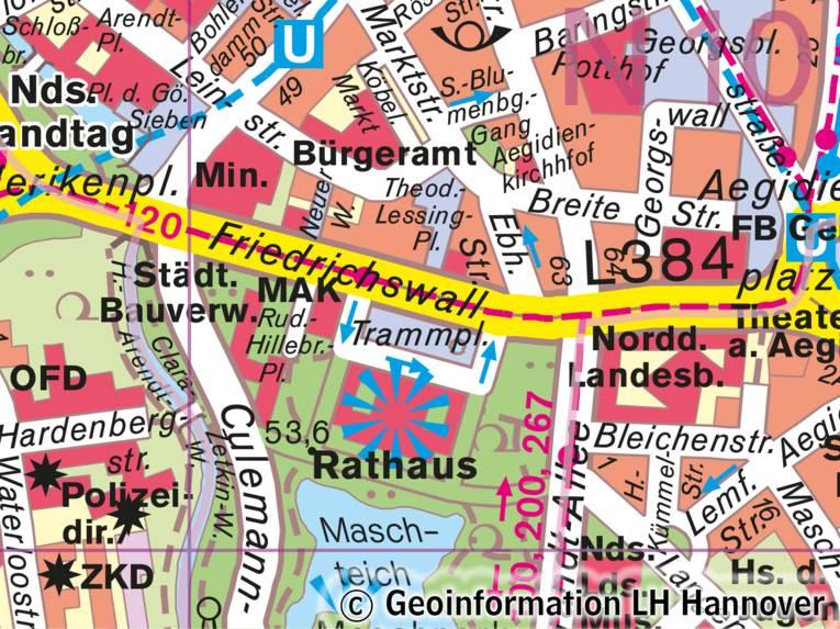 Muster der Stadtkarte 20 000