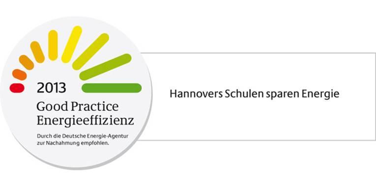 Logo: 2013 Good Practice Energieeffizienz - Hannovers Schulen sparen Energie