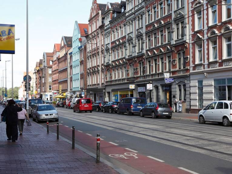 Häuserzeile an der Limmerstraße