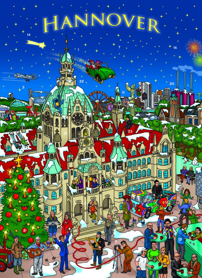Das weihnachtliche Hannover.