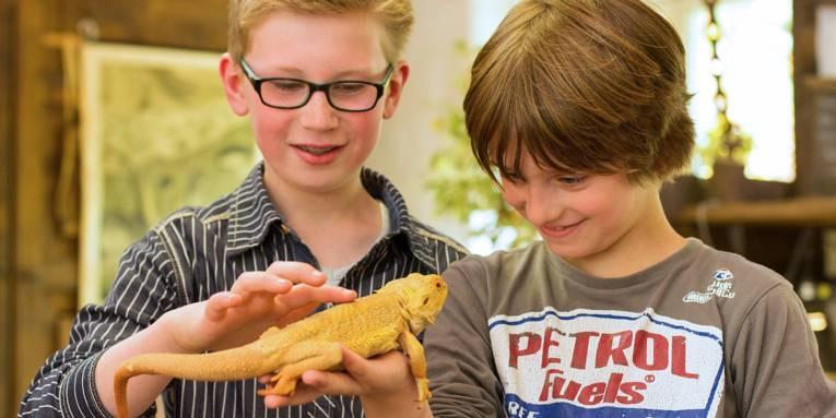 Kinder im Erlebnis-Zoo Hannover