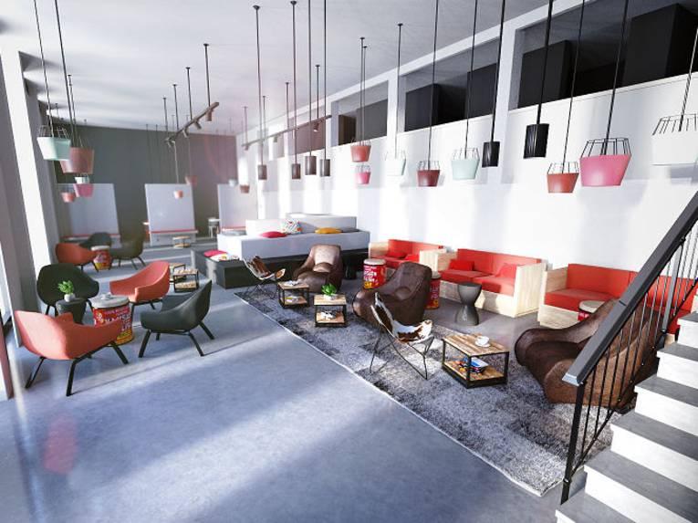 Eine Lounge.