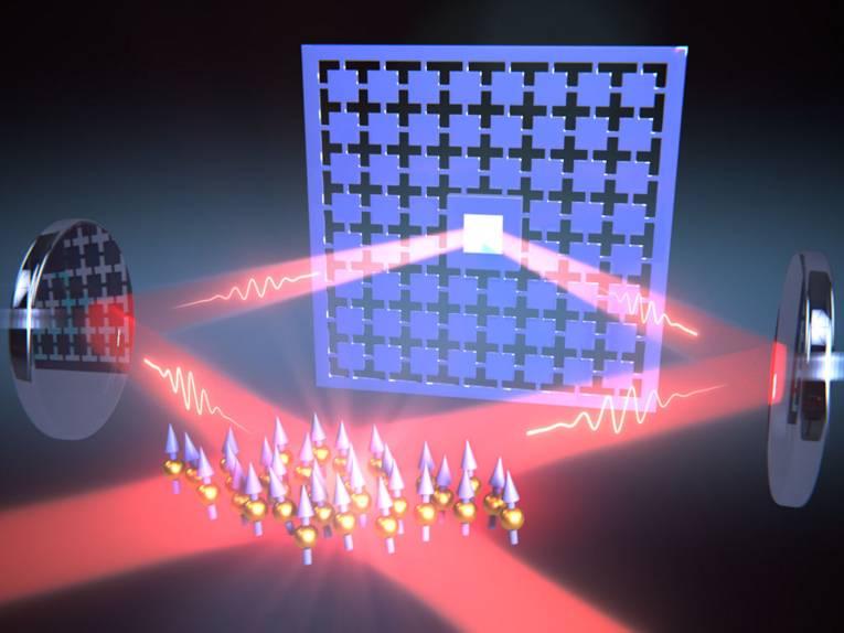 Grafische Darstellung eines optischen Vorgangs