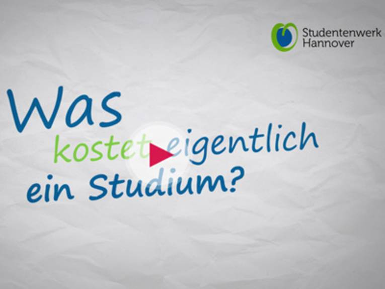 """Der Schriftzug """"Was kostet eigentlich ein Studium?""""."""