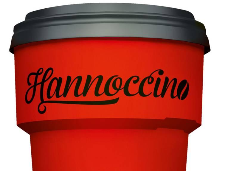 """Teil eines Bechers mit der Aufschrift """"Hannoccino"""""""