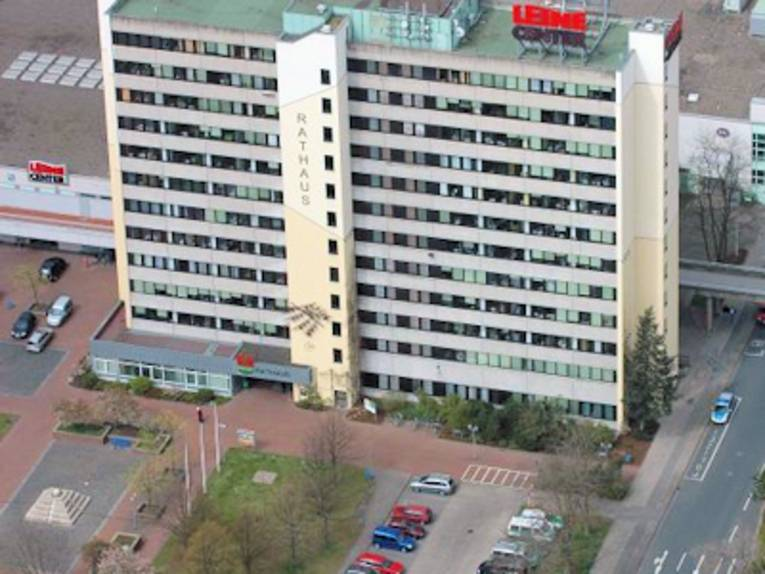 Luftansicht eines Gebäudes
