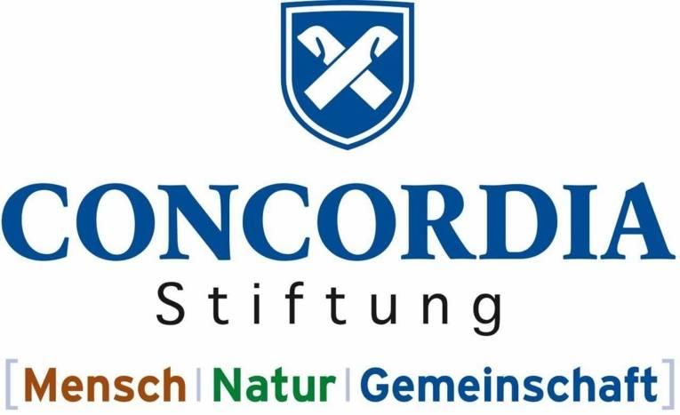 Logo mit der Schrift Concordia Stiftung Mensch Natur Gemeinschaft