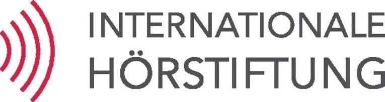 Logo mit stilisierten Schallwellen und der Schrift Internationale Hörstiftung
